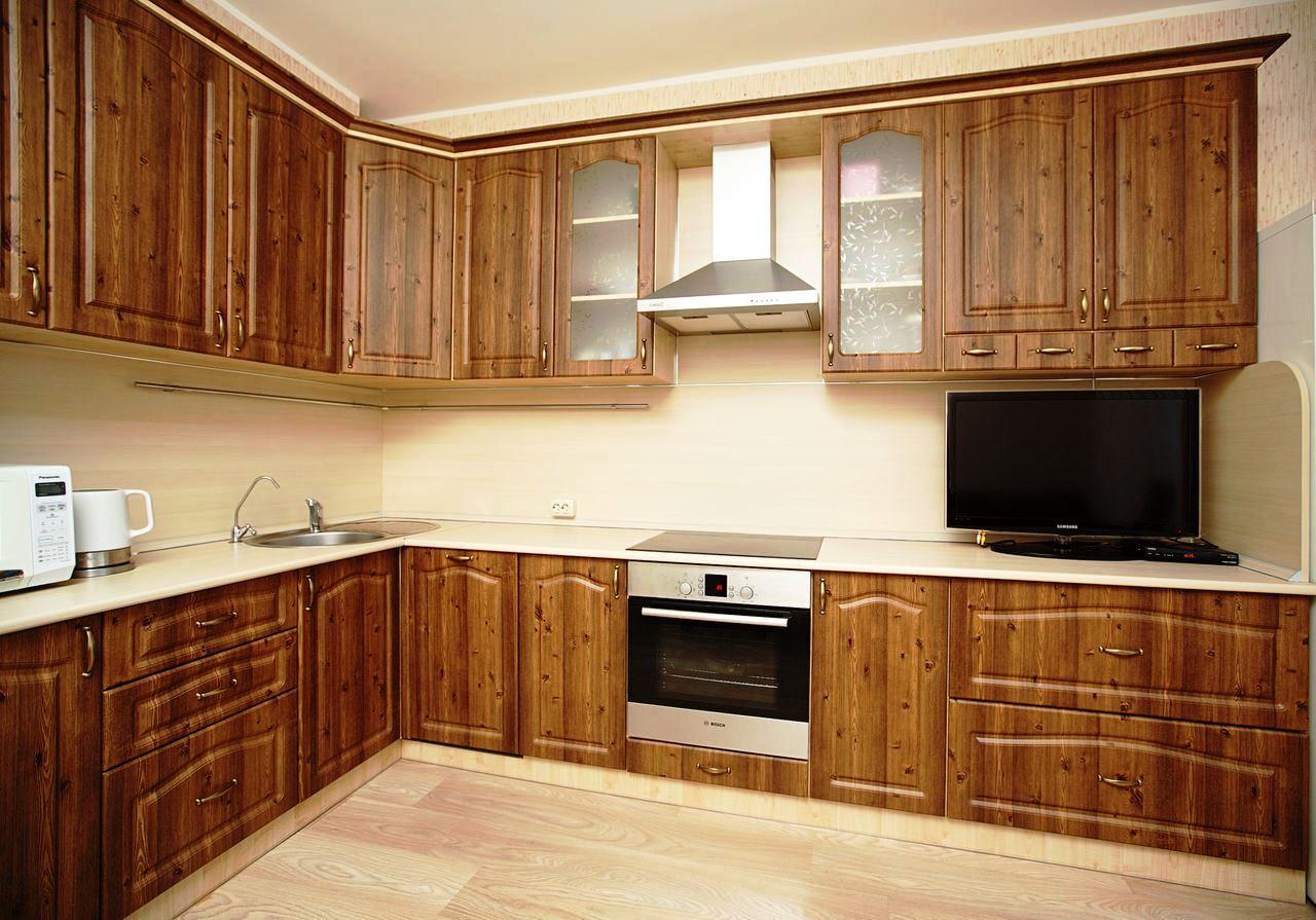 фото кухни фасад мдф крашеный